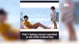 Pink fires back after picture of her on beach surfaces after canceling a concert