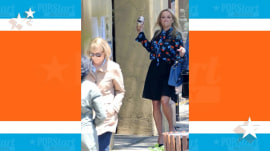 See Reese Witherspoon chuck an ice cream cone at Meryl Streep