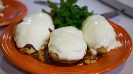 Make Sunny Anderson's grilled chicken parmesan and peppery pasta