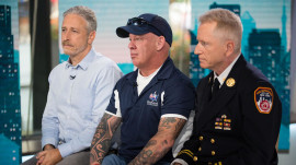 Jon Stewart joins former 9/11 responders in call for health care