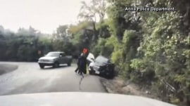 Texas officer saves woman from being hit by a truck