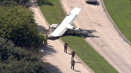 Plane crashes on busy road in Sugar Land, Texas