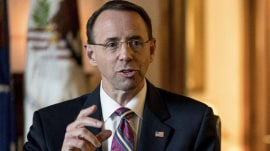 Deputy AG Rod Rosenstein to meet with Trump
