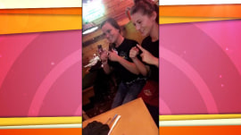 Waitresses learn sign language to wish 'happy birthday' to boy