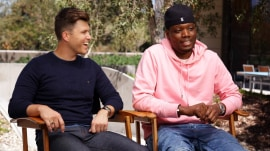 Hosts Colin Jost, Michael Che offer Emmys sneak peek