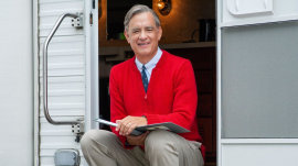 Tom Hanks appears as Mister Rogers in photo from new film