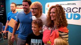 Ed Sheeran sings to kids at Boston Children's Hospital