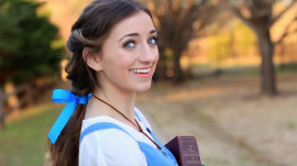 """Be our guest and try this Belle from """"Beauty and the Beast"""" Halloween hair tutorial"""