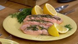 Make Camila Alves' easy baked salmon, potatoes and kale