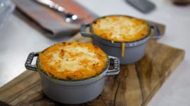 Make Ryan Scott's hearty shepherd's pie and vegan cookies