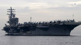 Navy helicopter crashes aboard USS Ronald Reagan