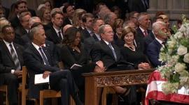 Michelle Obama explains viral cough drop moment with George W. Bush