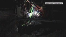 Video shows dramatic rescue of man trapped in Arizona mine shaft