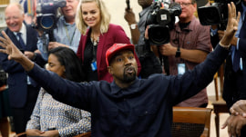 Kanye West delivers freewheeling rant at the White House