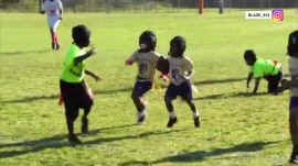 4-year-old makes a dash toward wrong end zone in cute video