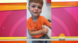 After getting his shots, little boy makes adorable discovery