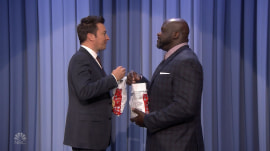 Jimmy Fallon and Shaquille O'Neal play fan-suggested game
