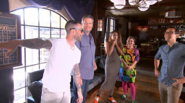 Watch 'The Voice' coaches go head-to-head in bowling