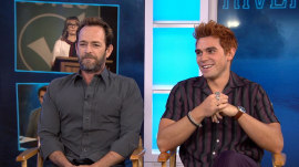 Luke Perry and KJ Apa talk about their hit show 'Riverdale'