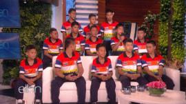Rescued Thai soccer team talks with Ellen DeGeneres