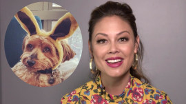 Vanessa Lachey imitates a famous Star Wars character to call her dog over