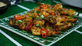 Football food: Make Daphne Oz's sesame wings and skillet cookie