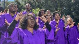 See Greater St. Stephen choir sing 'When the Saints Go Marching In'