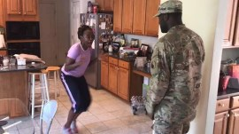 US soldier back from overseas surprises his family in joyful reunion