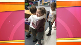 Hugs and high-fives: The cute way this pre-K class greets each other each day