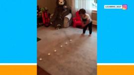 Watch: Toddler has 1 incredible golf swing