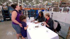 Michelle Obama signs copies of her book at Costco with Ellen
