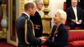 Emma Thompson asks Prince William for kiss at damehood ceremony