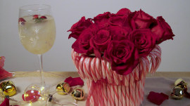 This Christmas candy cane vase will sweeten up your holiday season