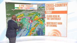 Forecast: Winter storm brings heavy rain to East Coast