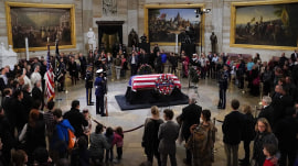 President George H.W. Bush lies in state at Capitol