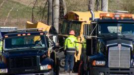 TODAY headlines: School bus collision; waves slam California coast
