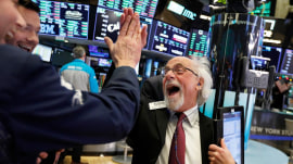 Dow surges more than 1,000 points after historic declines