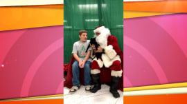 Sweet video shows Santa surprising boy with cat for Christmas