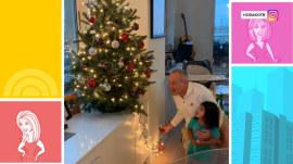 Watch Hoda light up the family Christmas tree with Haley Joy