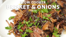 How to make tender beef brisket in a slow cooker