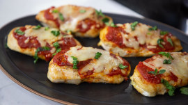 Make Kevin Curry's healthier stuffed chicken Parm