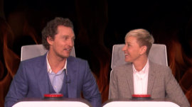 Ellen makes Matthew McConaughey blush with burning questions