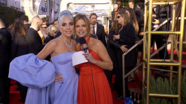 Stars shine on the Golden Globes red carpet
