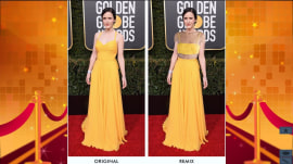 See Golden Globes' red-carpet fashion, remixed