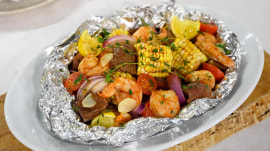 Foil-packet dinner recipes: Surf and turf, Greek chicken