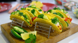 Frozen food recipes: Make shrimp tacos and blueberry cobbler