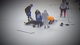 Doctor saves fellow hockey player who has heart attack during game
