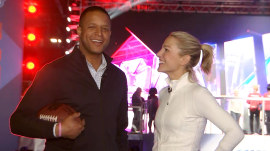 Craig Melvin and wife Lindsay spend date night at the Super Bowl