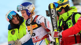 Lindsey Vonn suffers crash at world championships
