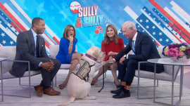 Capt. Sully meets his namesake, Bush's service pup, Sully